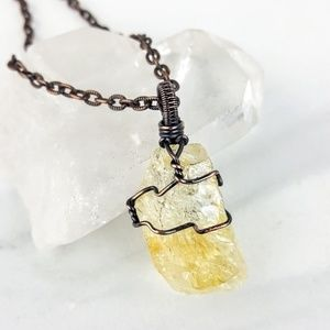 Abundance • Citrine Yellow Crystal Stone Necklace